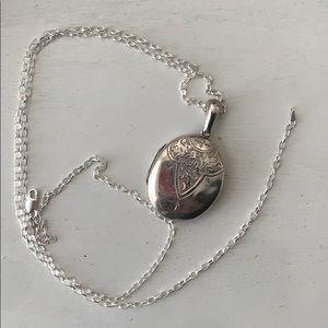 Victorian Antique sterling ornate boho locket